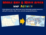 MENA (Middle East & North Africa) Map Activity (follow-along PPT & blank map)