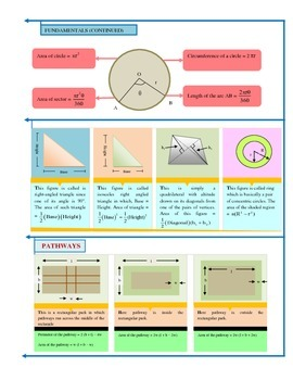 Geometry - TRIANGLES , PARALLELOGRAMS , CIRCLE and OTHERS