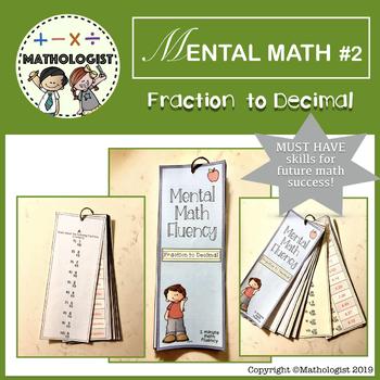 MENTAL MATH #2: Converting Fraction to Decimal