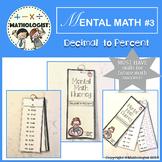 MENTAL MATH 3 Decimal to Percent