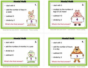 MENTAL MATH • GRADES 3–4