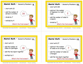 MENTAL MATH REVIEW  Grade 5