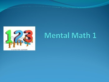 MENTAL MATH QUIZ