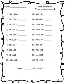5th Grade Math Assessments - Mixed Practice