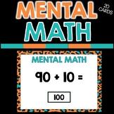 MENTAL MATH - digital resource - BOOM CARDS