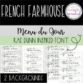 MENU DU JOUR French Farmhouse I  French visual schedule