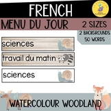 MENU DU JOUR French woodland theme I visual schedule