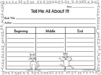 MEOW! Book Response Activities for Cool Cats FREEBIE