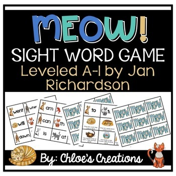 MEOW! Sight Word Game Leveled A-I