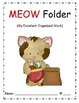 MEOW binder and folder cover for daily organization (cat theme)