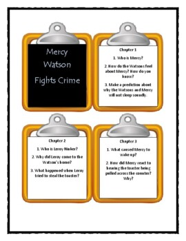 MERCY WATSON FIGHTS CRIME by Kate DiCamillo - Discussion Cards