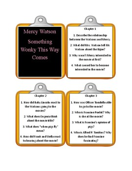 MERCY WATSON: SOMETHING WONKY THIS WAY COMES * Discussion Cards