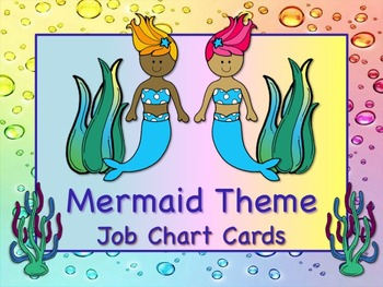 MERMAID Theme Job Chart Cards/Signs; Great for Classroom M