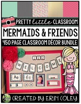 MERMAIDS & FRIENDS THEME: Pretty Little Classroom Decor Bundle (Editable)