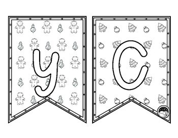 MERRY CHRISTMAS pennants ~ print and color!