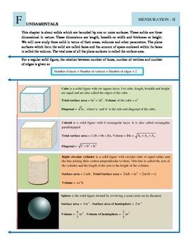 Geometry II - Cube , Cuboid, Cylinder,Cone and Frustum