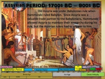 MESOPOTAMIA PART 2: THE ASSYRIANS, a fun 20-slide PowerPoint with Guided Notes