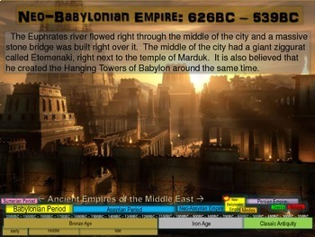 MESOPOTAMIA PART 4: NEO-BABYLONIAN EMPIRE, 25-slide PowerPoint w/ Guided Notes