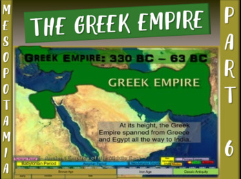 MESOPOTAMIA PART 6: SELEUCIDS (GREEKS), fun 20-slide PowerPoint w/ Guided Notes
