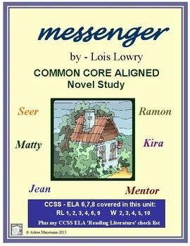 MESSENGER Common Core Aligned Novel Study
