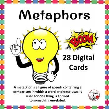 DIGITAL METAPHORS ... Figurative Language: BOOM™  Internet Task Cards