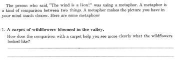 METAPHORS Worksheet: Defined - Examples w/ 12 Qs  Make Comparisons and Interpret