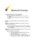 METEORITE HUNTING LAB!  Students use a MAGNET to find Metallic meteorites!!
