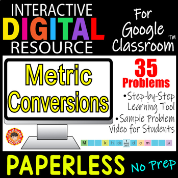 metric conversions digital resource for google classroom by teamwork