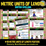 METRIC Measurement - LENGTH Posters (UK Spelling)