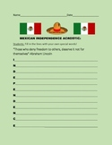 MEXICAN INDEPENDENCE DAY ACROSTIC
