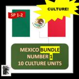 MEXICO BUNDLE NUMBER 1 - 10 CULTURE UNITS plus 15 maps FOR SPANISH 1