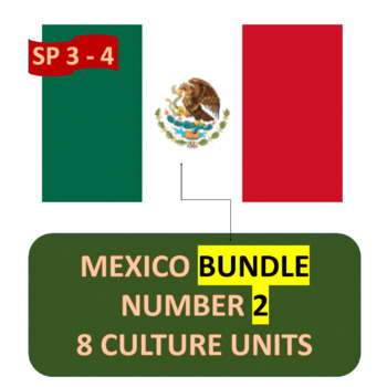 MEXICO BUNDLE NUMBER 2 - EIGHT (8) THEMATIC UNITS FOR INTERMEDIATE SPANISH