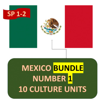 MEXICO BUNDLE NUMBER 2 - EIGHT (8) CULTURE UNITS FOR INTERMEDIATE SPANISH