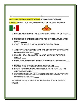 mexican state quiz