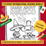 MEXICO - Learn About Mexico – A 16 Page Nonfiction Country Study Booklet