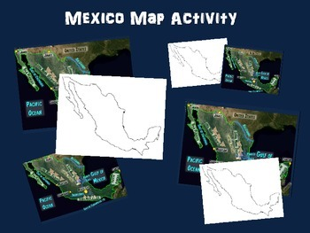 MEXICO Map Activity- fun, engaging, follow-along 18-slide PPT