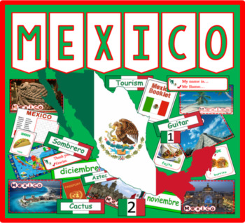 MEXICO / SPANISH LANGUAGE MULTICULTURE DIVERSITY DISPLAY GEOGRAPHY