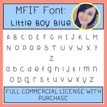 MFIF Fonts: Little Boy Blue (FULL Commercial License)