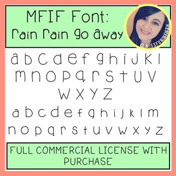 MFIF Fonts: Rain Rain Go Away (FULL Commercial License)