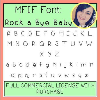 MFIF Fonts: Rock a Bye Baby (FULL Commercial License)