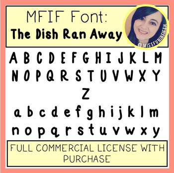 MFIF Fonts: The Dish Ran Away (FULL Commercial License)