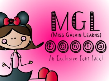 Miss Galvin Learns Font Pack (Personal and Commercial Use)