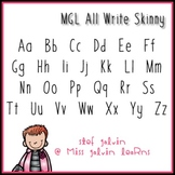 MGL Free Font - All Write Skinny