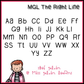MGL Free Font - The Right Line