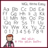 MGL Free Font - Write Easy
