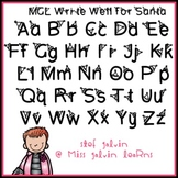 MGL Free Font - Write Well for Santa