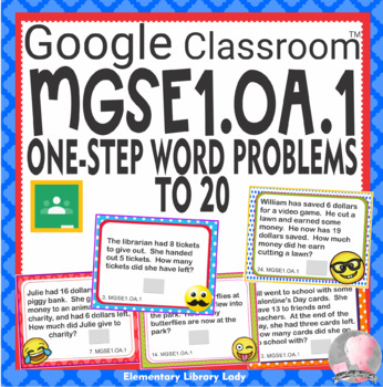 MGSE1.OA.1 Georgia Task Cards GOOGLE SLIDES - 25 Cards with Answer Key