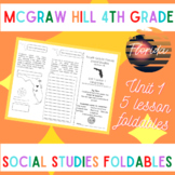 MGraw Hill Fourth Grade Florida Social Studies Unit 1 Foldables Trifold