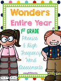 MH Wonders 1st Grade Phonics & High Frequency Word Assessments ENTIRE YEAR!!!