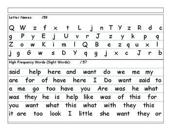 MH Wonders  Unit 9, Week 1 aligned Kindergarten curriculum based assessment